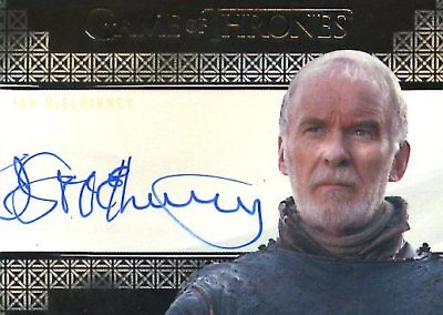Game Of Thrones Valyrian Steel VALYRIAN AUTOGRAPH card IAN MCELHINNEY as SELMY
