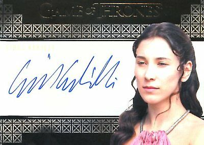 Game Of Thrones Valyrian Steel VALYRIAN AUTOGRAPH card SIBEL KEKILLI as SHAE