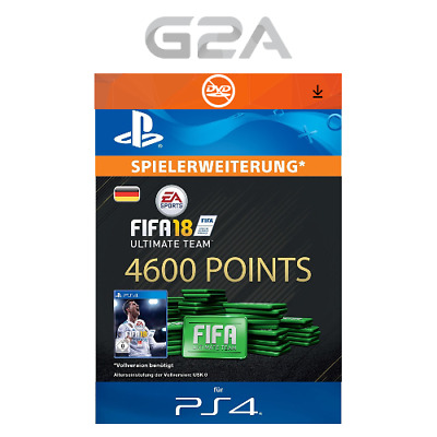 FIFA 18 Ultimate Team - 4600 FUT Points [PS4] Playstation Network PSN Code DE