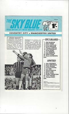 Coventry City v Manchester United 1969/70 Football Programme