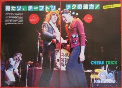 Cheap Trick Rick Nielsen Tom Petersson 1978 Clipping Japan Magazine H9 F9 2Page