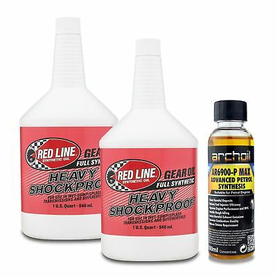 2 x Red Line Heavy Shockproof Trans & Diff Gear Oil  75W250 / 75W90