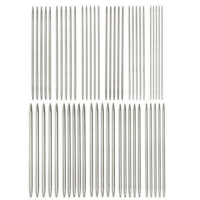 11Sizes 55pcs Stainless Steel Double Point Knitting Needles Crochet DIY Tool