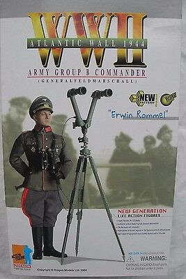 """1/6 scale 12"""" collectable action figure by Dragon Field Marshall Erwin Rommel"""