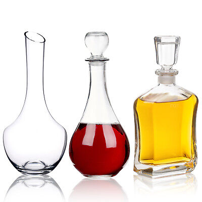 Sherry Wine Whiskey Liquor Decanter Glass Carafe Christmas Wedding Gift Boxed