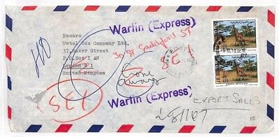 AL284 1979 Somalia London GB Cover Wartin Express {samwells-covers}