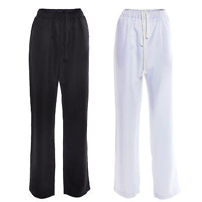 Chefs Chef Caterers Catering Trousers Pants Kitchen Uniform Black White