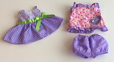 Cabbage Patch Doll Clothes -  Polka Dot Sun Dress And Cotton Outfit 10 Inch Doll
