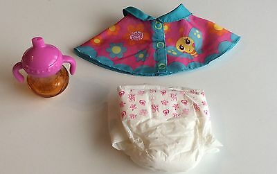 Baby Alive Sippy Cup Diaper Bib 10-12 Inch Doll