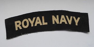 royal navy printed cloth shoulder title
