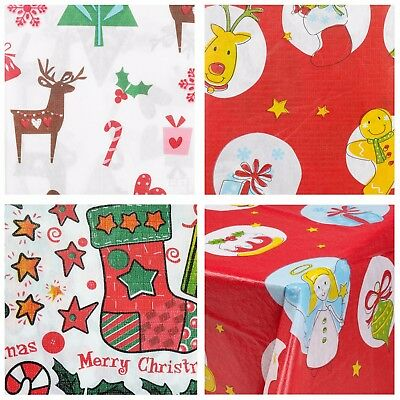 Disposable Festive Christmas Tablecloth Rectangle Oblong Table Cloth Tableware