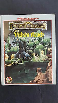 """ THE VILHON REACH ""FORGOTTEN REALMS COMPLETE WITH MAP  AD&D 2nd TSR # 9520 VNC"