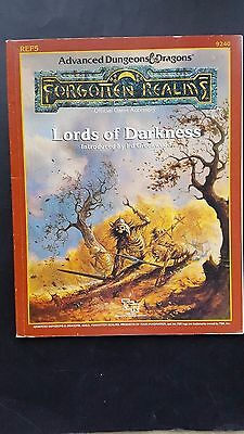 "AD&D ""LORDS Of DARKNESS "" FORGOTTEN REALMS TSR # 9240 REF5 1988 VNC MINT INSIDE"