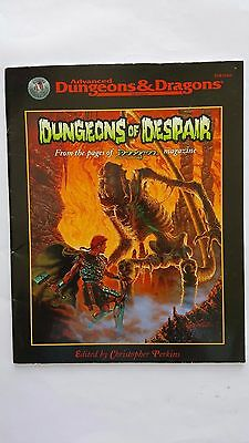 "AD&D 2nd Ed 2.5E ""DUNGEONS Of DESPAIR "" TSR  #11444 64 pgs LVL 2-4 SILVER ANNIV."