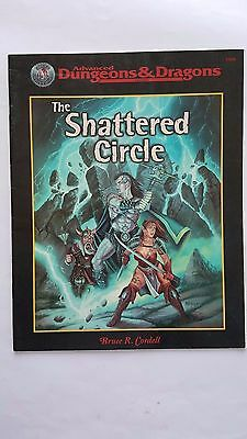 "AD&D 2nd Ed 2.5E ""THE SHATTERED CIRCLE"" SILVER ANIVERSARY  TSR # VNC 4-6 1-3 LVL"