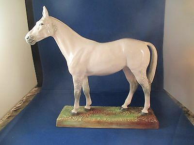 Vintage Royal Doulton Horse Merely a Minor (White with Gray) HN2538 Very Good