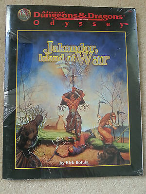 AD&D 2nd Ed JAKANDOR Island Of War ODYSSEY FACTORY SEALED #9511 TSR 1997