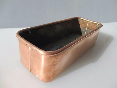 Vintage Copper Trough Tub Planter Plant Pot Antique Window / Garden Old Urn  12""