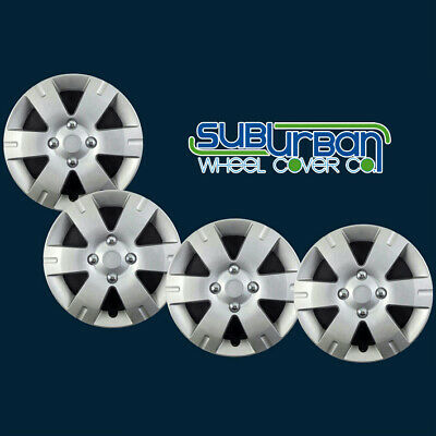 """FITS 2007-2012 Nissan Sentra 15"""" Replacement Hubcaps Wheel Covers 436-15S SET/4"""