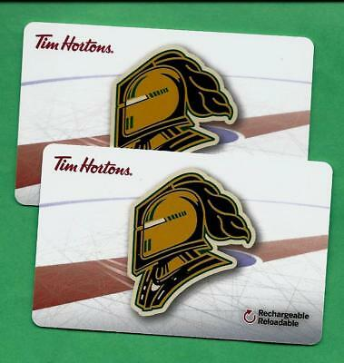 Pair of 2017 Tim Hortons  OHL London Knights Gift Cards  FD57076  No Value