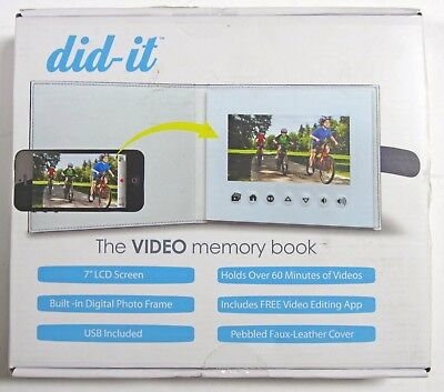 "Brand New! Did It - 7"" Widescreen LCD Digital Photo/Video Memory Album - Navy"