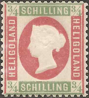 UN-USED 1873 HELIGOLAND 3/4 Schilling STAMP British Empire COLONY White Square