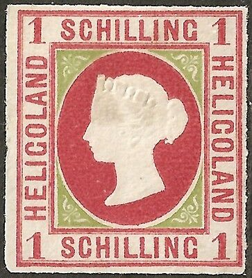 UN-USED 1867 HELIGOLAND 1 Schilling STAMP British Empire COLONY Queen Victoria