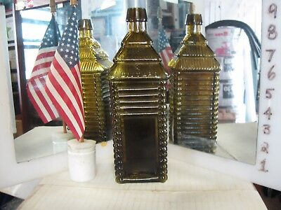 Collector Quality*rare Color*olive Green~6 Log Drakes Plantation Cabin Bitters