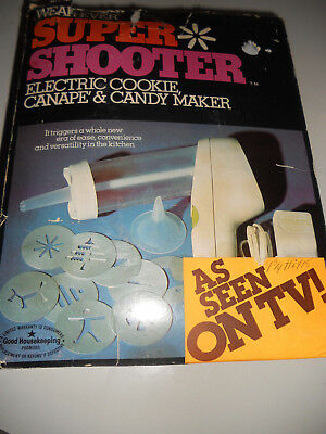 WEAR EVER Electric SUPER SHOOTER 70001 USA Made Cookie Press & Candy Maker