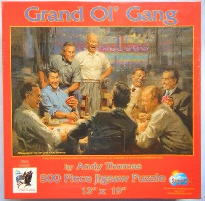 Grand Ol Gang Republicans Playing Poker Election Politics 1000 pieces Puzzle NEW