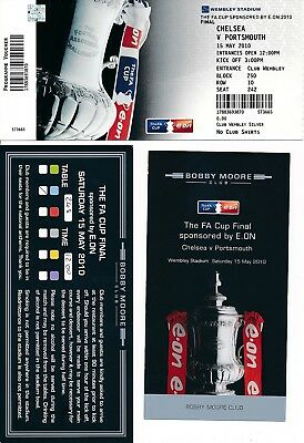 FA CUP FINAL 2010 Chelsea v Portsmouth Ticket + VIP pass
