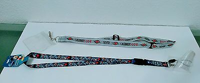 Disney Cruise Line Silver Castaway Club and Parks Lanyard ID Holder Lot of 2