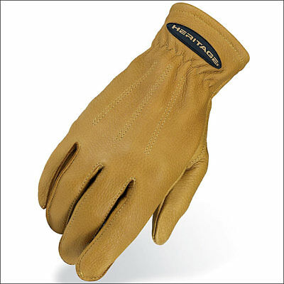 Size 13 Heritage Sheepskin Trail Natural Tan Riding Gloves Horse Equestrian