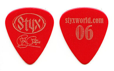 Styx Ricky Phillips Signature Red Guitar Pick - 2006 Tour