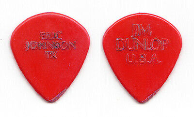 Eric Johnson Concert-Used Dunlop Jazz III Molded Red Guitar Pick - 2015 Tour