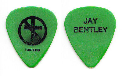 Bad Religion Jay Bentley Concert-Used Green Guitar Pick - 2006 Tour