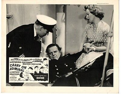Set of 8 Original Lobby Cards/Front of House Stills Carry on Admiral 1957 - Rare