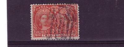 Canada QV double head 20c sound used cat £100