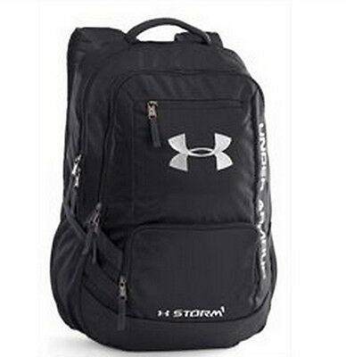 New UA Under Armor Team Hustle Backpack, Black/Black, One Size 1272782 001