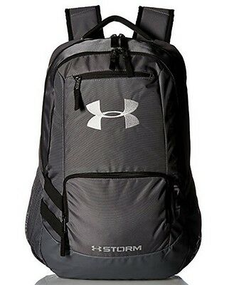 New UA Under Armor Team Hustle Backpack, Graphite, One Size 1272782 040