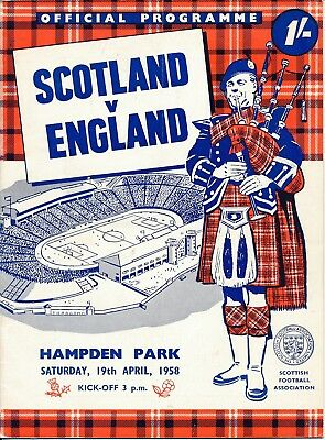 Scotland v England (Home International) 1958