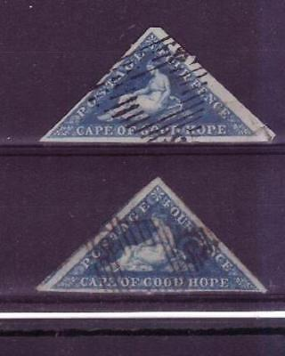 Cape triangles 4d blues x 2 one with huge margins min cat £170