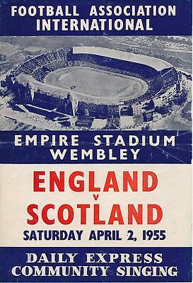 SONGSHEET: England v Scotland (Home International) 1955