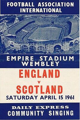 SONGSHEET: England v Scotland (Home International) 1961