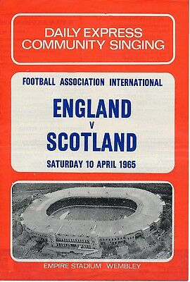 SONGSHEET: England v Scotland (Home International) 1965