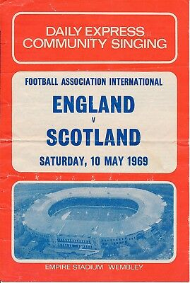 SONGSHEET: England v Scotland (Home International) 1969