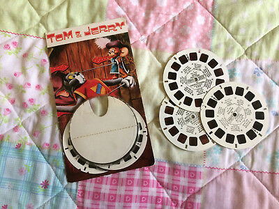Tom and Jerry / Droopy 3D GAF View-Master Reel Set Vintage Toy 1970s