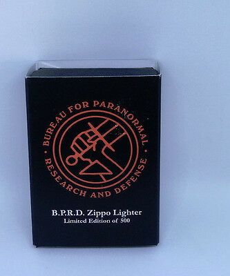 SDCC Hell Boy Zippo B.P.R.D LE 500 Bureau For Paranormal Research And Defense