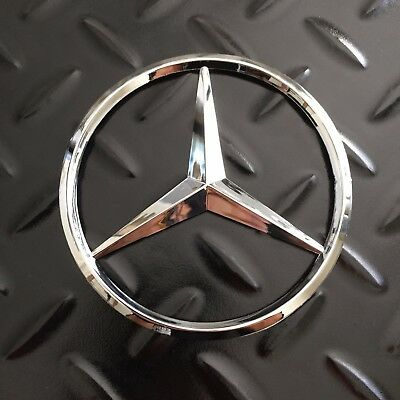 "New - Mercedes-Benz™ Trunk Chrome Star Emblem Badge Logo 3.5"" 90mm 2128170016"