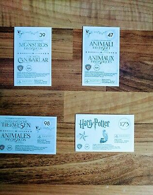 Fantastic Beasts Panini  Stickers RARE numbers